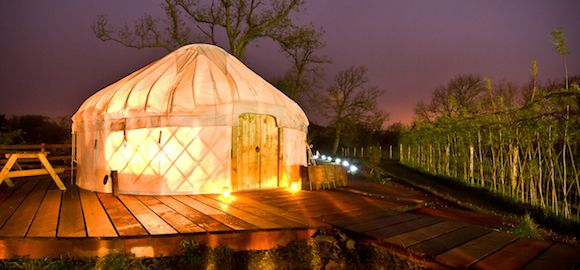 Yurt Lit Up