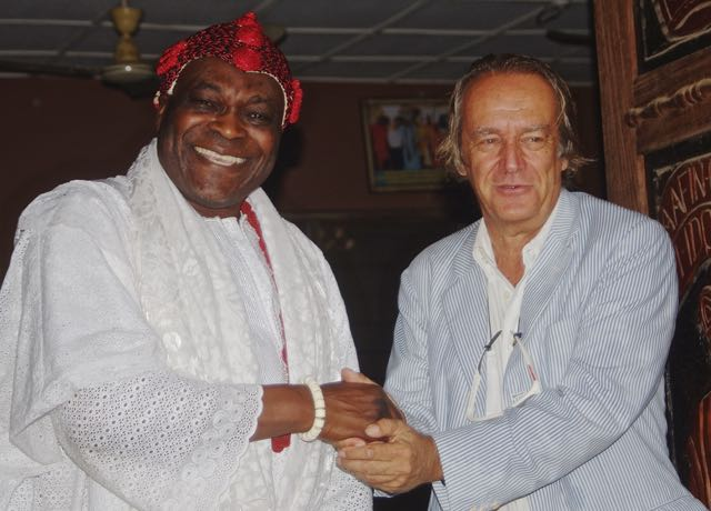 Dr. Leber with HRM.Aderemi King Adeen Adedapo King of Ido Osun Nigeria